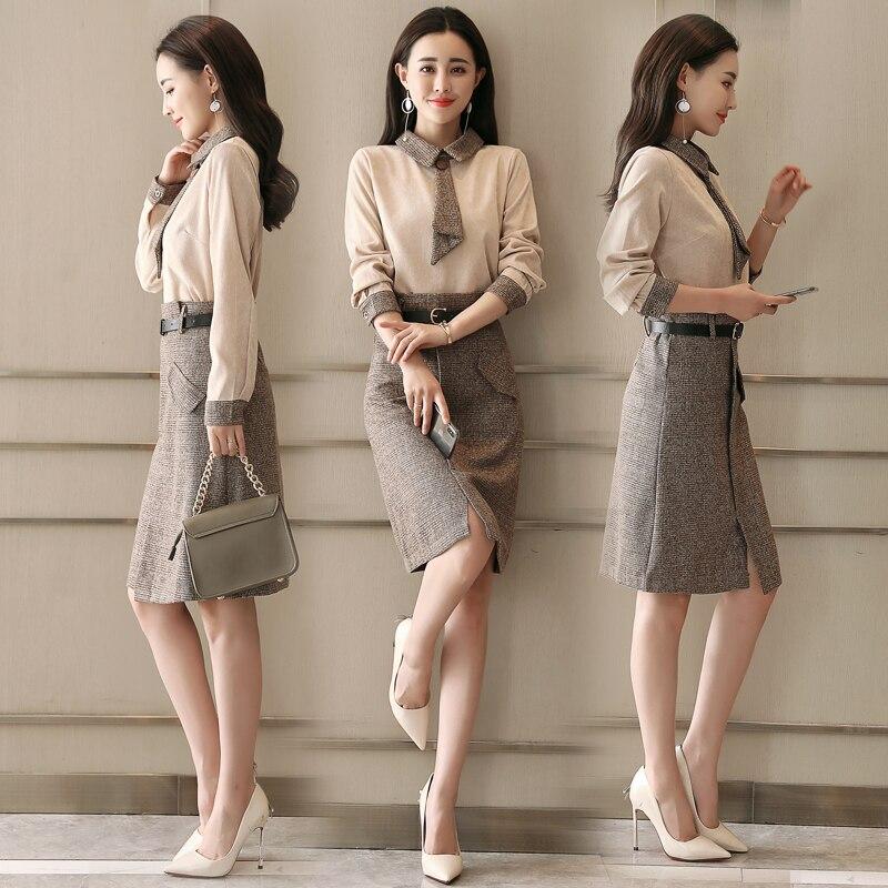 Office Lady Top And Skirt 2 Piece Set Women Vogue Ensemble Femme Deux  Pieces Trendy Year 7207edd9c2f0