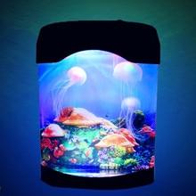 Colorful LED Lamp Aquarium Night Light Decoration Simulation Jellyfish