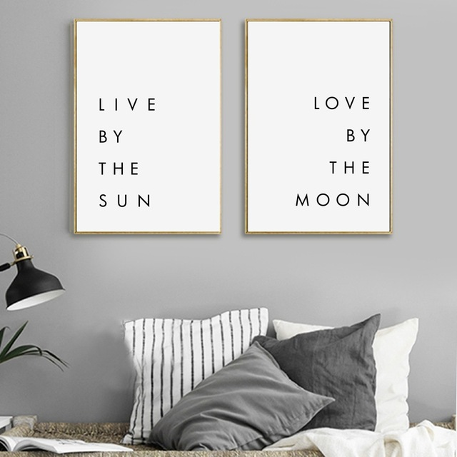 Bedroom Wall Art Minimalist Canvas Print Poster Live By