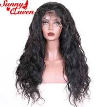 Body Wave 360 Lace Frontal Wig With Adjustable Strips Pre-plucked 10-24″ Brazilian Remy Human Hair Nature Color Sunny Queen