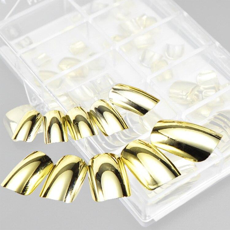 Wholesale diseñado extremidades del clavo de plata / oro metal uñas ...