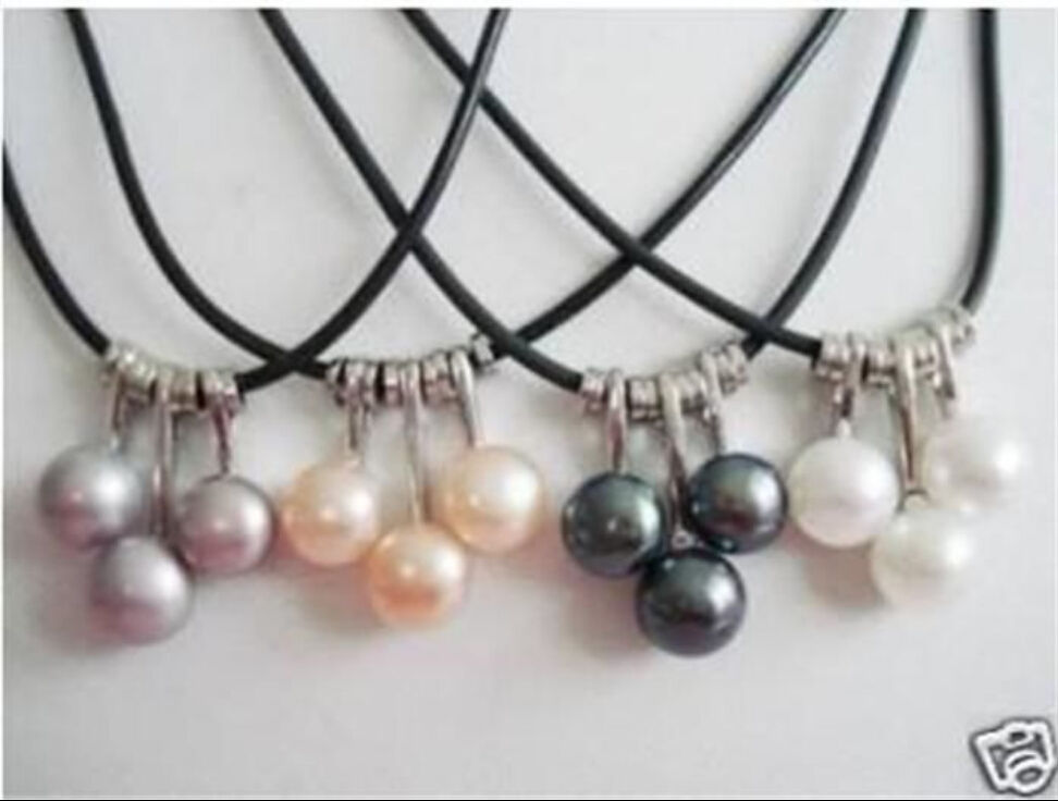 WHOLESALE 4 SET 4 COLOR AKOYA CULTURED PEARL NECKLACE> jewerly free shipping