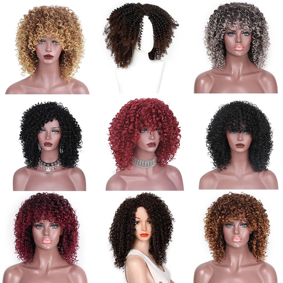 AISI HAIR High Temperature Fiber Blandad Brun och Blond Färg - Syntetiskt hår - Foto 2
