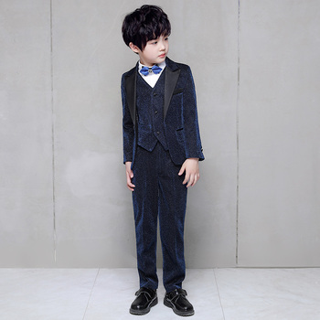 çocuks Boy Takım Elbise Blazers Pırıltılı Takım Elbise Düğün Büyük