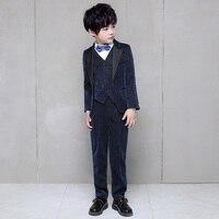 Детские костюмы для мальчиков, блейзеры, блестящие костюмы, свадебные костюмы для больших детей, платье с цветочным узором для девочек, одеж...