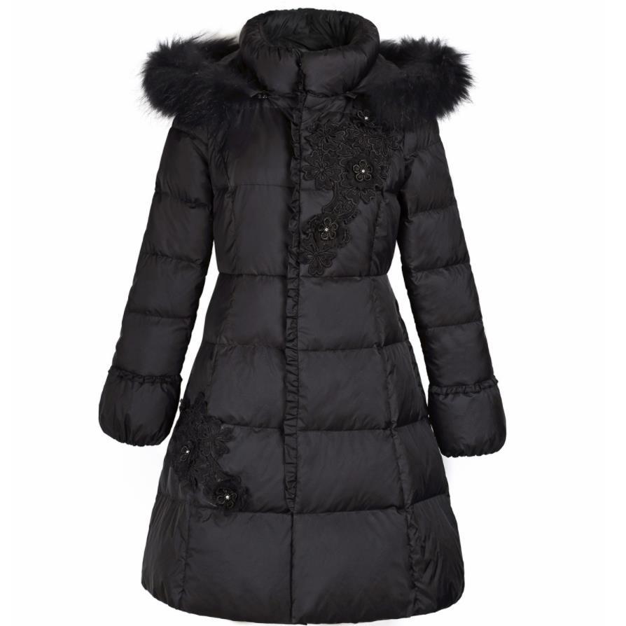 Fourrure Femmes Capuchon Manteau Canard Black 3xl Duvet Veste Taille Tempérament Col white Blanc Nouvelles À D'hiver 2019 Plus De xBAw7vfHWq