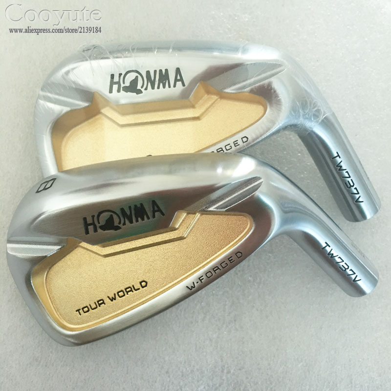 New mens Cooyute Golf heads Set HONMA TW737V gold Golf irons heads set 4-910 Irons Golf club head no irons shaft Free shipping new golf head romaro alcobaca tour stream forged carbon steel golf wedge head have 50 56 58 deg loft no golf shaft free shipping