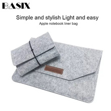laptop Bag Soft Bussiness Wood Felt Sleeve Bag Case For Appl