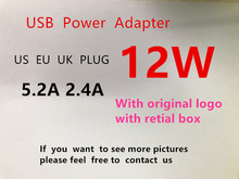 wall ac detachable electrical euro eu us au uk plug duck head for apple ipad iphone usb charger for macbook power adapter phone 20pcs AAAAA EU US UK Plug A1401 12W USB Power Adapter AC home Wall Charger 5.2V 2.4A For iPhone X 8 for iPad With Retail box