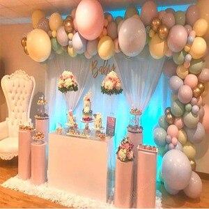 Image 4 - 10 18 36 بوصة كبيرة باستيل البالونات الطفل زينة الحمام المعكرون بالونات بلان الزفاف عيد Globos اللاتكس الهواء بالون S6XZ