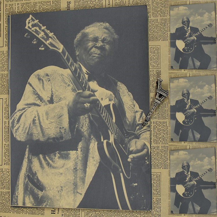 Vintage Poster B.B.KING Kraft retro nostalgia rock old poster guitarist Bruce BLUES retro poster 30x21cm