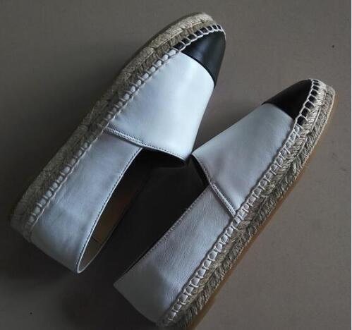 De Appartements Bout 42 Noir Luxe Espadrille Femmes Chaussures En Mouton Haute Rond bleu Cuir Véritable 34 Qualité Peu kaki Profonde Peau blanc XxXFqYBnpw