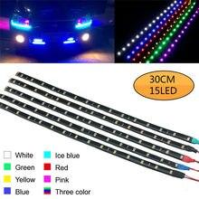 Tira de luces LED El para decoración de coche, Cable de 30cm, resistente al agua, con Motor de luz luminosa, para circulación diurna, fiesta, 2 uds.