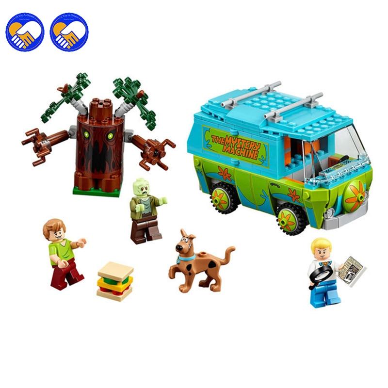 A toy A dream Bela Scooby Doo Mystery Machine Bus Building Block Toys 10430 Compatible Lepin Kazi Bela Sluban Birthday Gift a toy a dream new 10415 elves azari aira naida emily jones sky castle fortress building block toys lepin kazi bela sluban