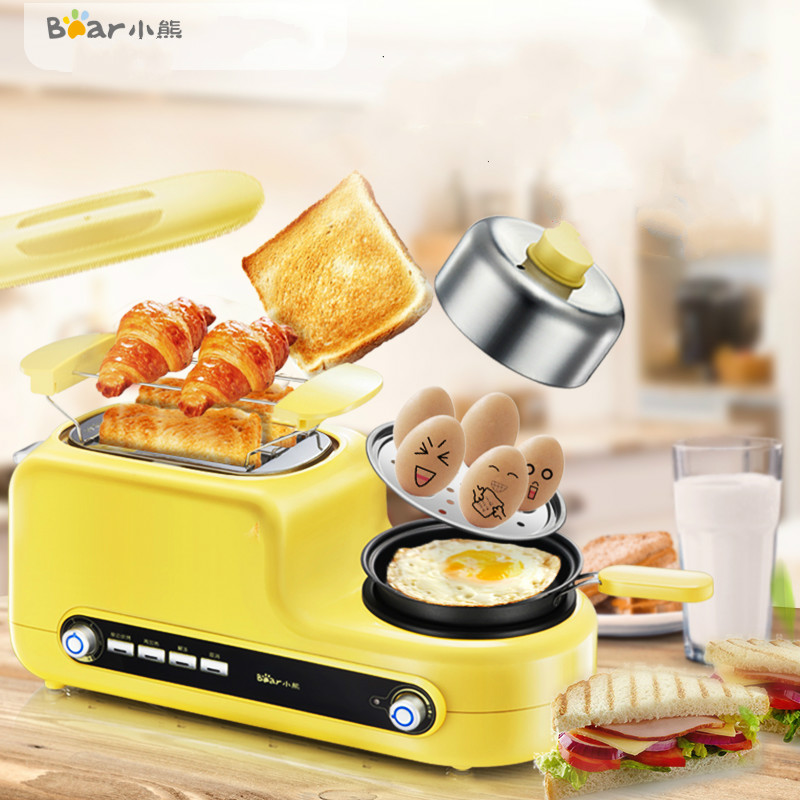 Bear Multi Toaster Cooker Non-stick Fry Pan Egg Steam Boiler Breakfast Bread Baking Machine Sandwich Maker Oven Egg Master fry ice pan machine