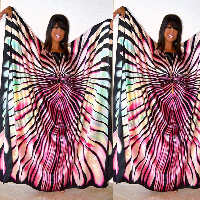 Купить с кэшбэком H&D African Dress for women 2018 fashion zebra Stripe print Dress plus size free size maxi Dress long Robe Africaine vetsido