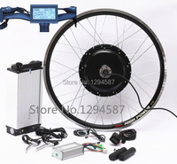 Free shipping 48v 500w brushless hub motor ebike conversion kit with 48v 10ah lithium ion battery for sale