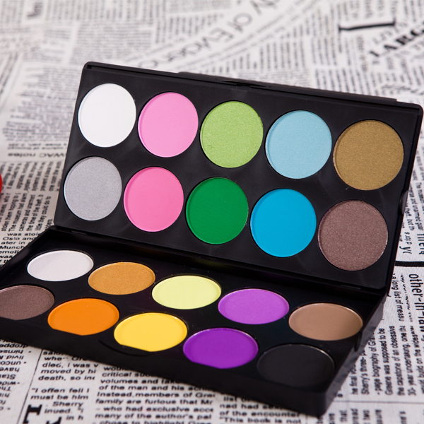 New Professional Fashion 20 Color Shimmer & Matte double layer Eye ...