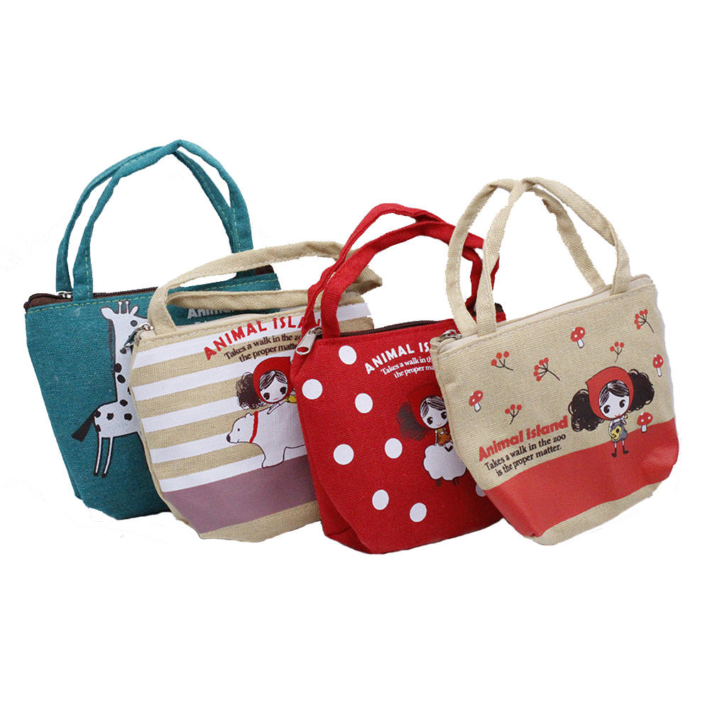 Cute Printed Handbag Wear fit 1/3 BJD Doll 43-45cm fits for 18inch Girl Cloth Accessories