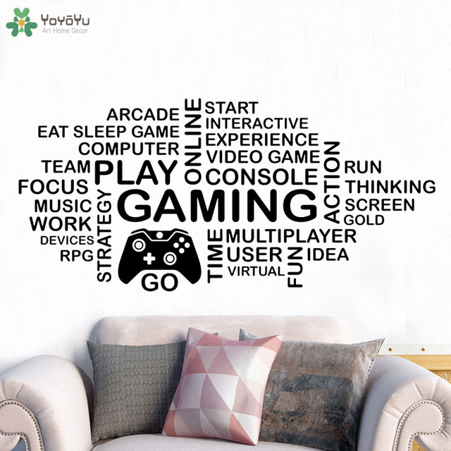 English Sayings Quotes EAT SLEEP GAME Wall Decal Stickers Room Decor Art Mural