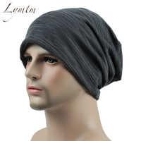 2019 mode doux confortable mince solide Slouchy bonnets hip-hop casquette décontractée Turban Bonnet Beanie tricoté chapeaux pour femmes et hommes