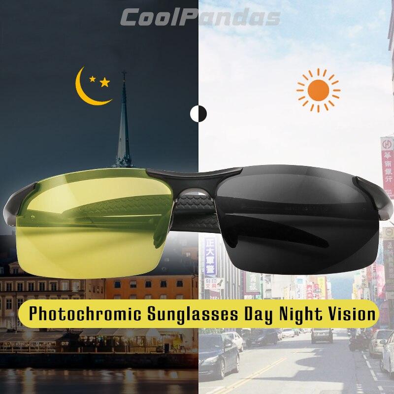 2019 Unisex Photochromic Sunglasses Day Night Polarized Sunglasses for Men Women Yellow Safety Driving UV400 gafas
