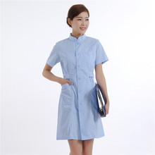 2017 Surgical Cap Summer Womens' Short Sleeve Nurse Uniform Stand Collar Center Opening Dental Clinic Clothes Free Shipping
