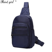 Saint Girl Unisex Nylon Chest Back Pack  Crossbody Shoulder Bags Men Women Diagonal Package Rucksacks SNS283