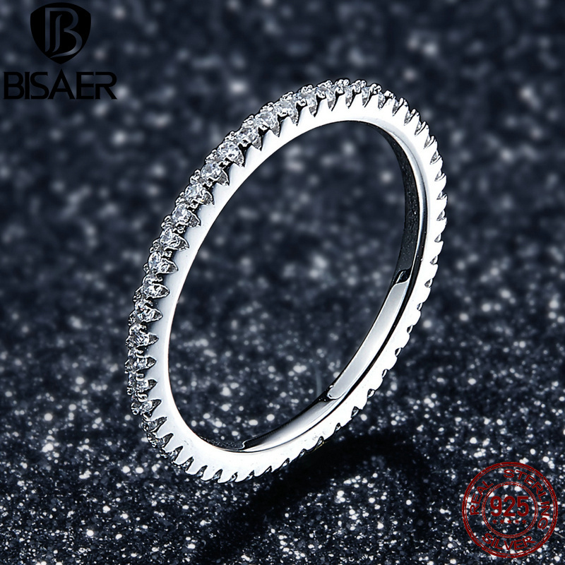 Luxury Authentic 925 Sterling Silver Classic Geometric Circle Stackable Rings for Women Clear CZ Ring Engagement Jewelry Gift платье catimini платье