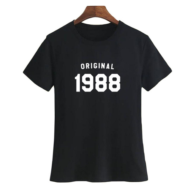 30th Birthday T Shirt Women Fashion Slogan Tshirt Best Gifts For Her Born In 1988 Ladies Party