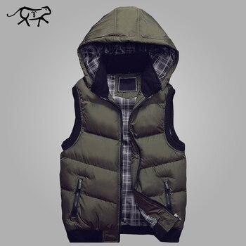 Yeni Şık Sonbahar Kış Yelek Erkekler Yüksek Kaliteli Kaput Sıcak Kolsuz Ceket ve Ceket Rahat Yelek Erkek Moda Yelek M-5XL