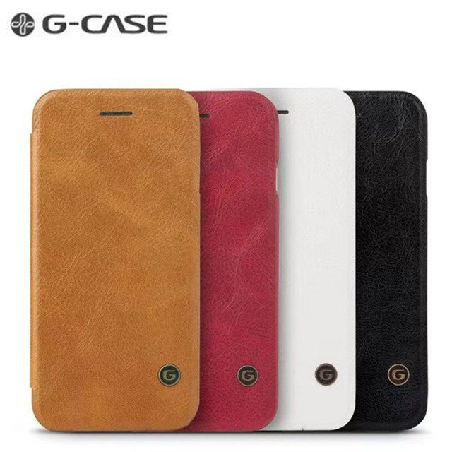 lowest price 60d2c 72643 US $12.95 40% OFF| S8 S9 GCASE Genuine Leather Wallet Flip Phone Case For  Samsung S8 S9 Plus GCASE Flip Cover for Samsung S9 S7 edge S6 Note 8-in  Flip ...