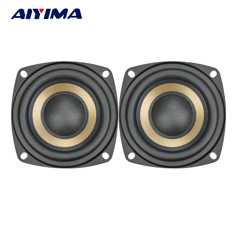 Aiyima 2PC 3Inch Subwoofer Speaker 4Ohm 8Ohm 15W Hifi Bass Speaker Bookshelf Loudspeaker DIY цена 2017