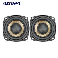 Aiyima 2pcs 3 Inch 15W Hifi Bass Subwoofer Speaker Horns 4ohm 8ohm Loudspeaker