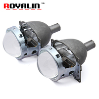 ROYALIN Car Q5 Bi Xenon Lens 3.0 Headlight Projector Kit with HID 21mm Bulbs For Auto H1 H4 H7 9005/HB3 9006/HB4 Lights Retrofit