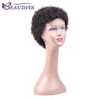 Krótki Ludzki Włos Peruki Dla Uroczych Kobiet Afro Jerry Curl Ludzkich Włosów Peruki Brazylijski Włosy Peruki