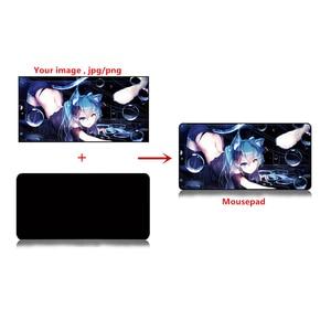 Image 2 - large DIY Custom mouse pad XXL XXXL 120*60cm 100*50cm 2mm grande DIY gaming Mousepad desk mat Anime for CS GO dota 2 game gamer