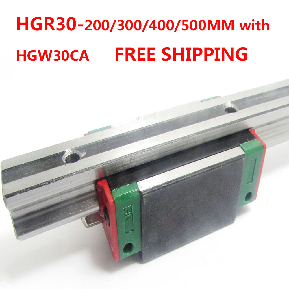 1PC free shipping HGR30 Linear Guide Width 30MM Length 200MM/300MM/400MM/500MM with 1PC HGW30CA Slider for cnc xyz axis large format printer spare parts wit color mutoh lecai locor xenons block slider qeh20ca linear guide slider 1pc