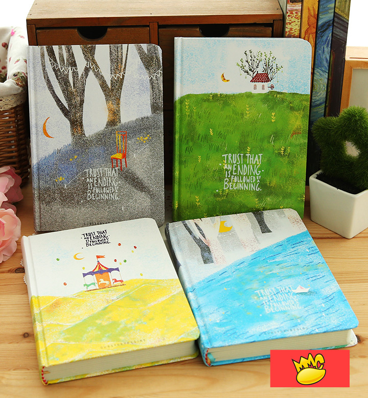 Forest Life Journal Diary Colorful Drawing Pages Hard Cute Planner Notebook Notepad Study Memo