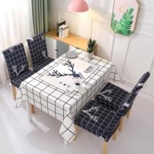 Europa gran mantel retro mezcla de lino de algodón manteles impermeable para cuadrado Rectangular mesa de comedor silla