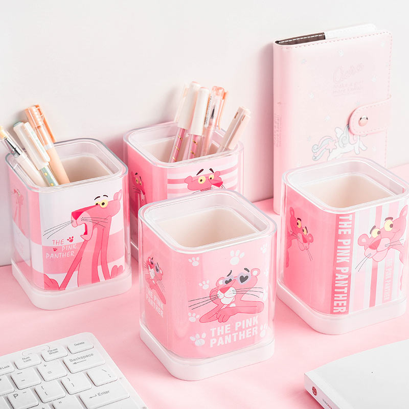 Korean Style Kawaii Cute Pen Holder Pencil Cup Office Supplies Desk Accessories Pen Organizer Pencil Holder School Supplies