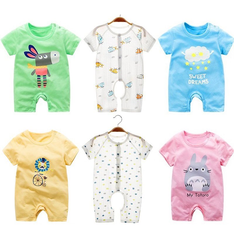 2019 Baby Clothes Newborn Unisex   Rompers   Infant Newborn Summer Clothing For Baby Girl Boy   Romper