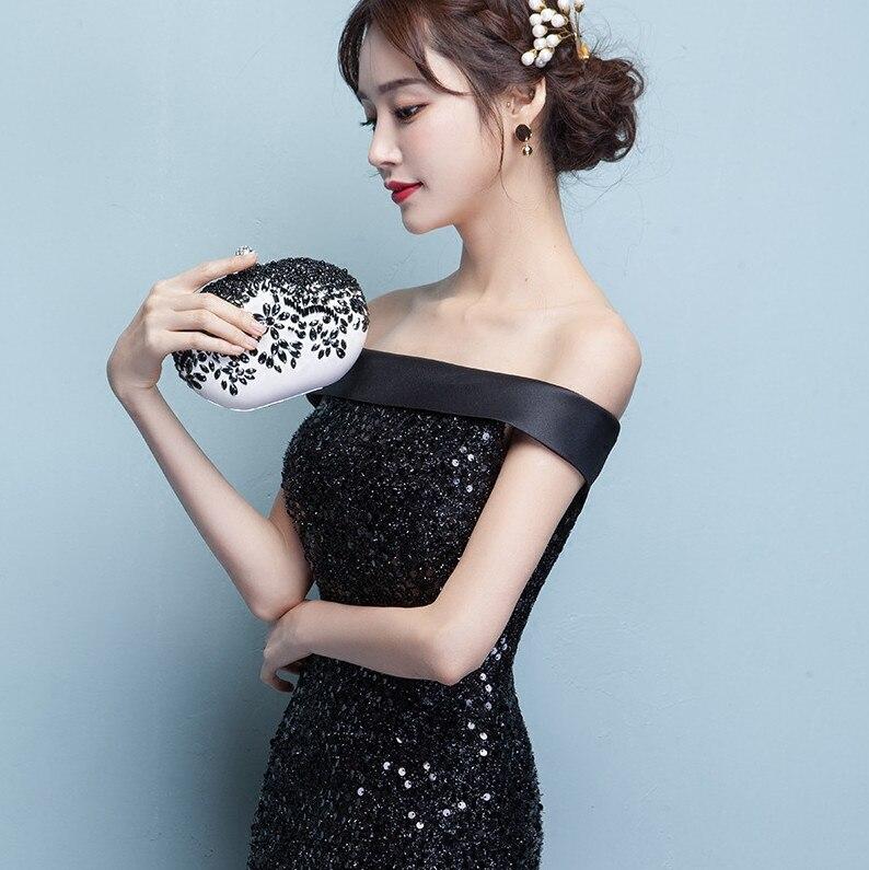 f775e39265 Sirena vestido de noche largo negro lentejuelas elegante Fiesta Vestidos  2019 Vestidos Para Fiesta Largos Mujer en Vestidos de noche de Bodas y  eventos en ...