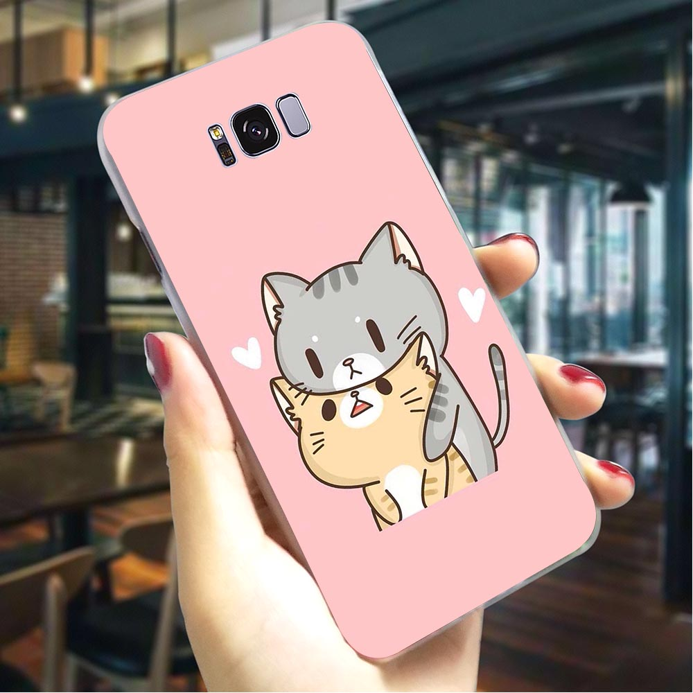 Kawaii Molang <font><b>Dog</b></font> Cat Hard Cover for <font><b>Samsung</b></font> <font><b>Galaxy</b></font> A6 Plus 2018 A7 <font><b>2017</b></font> A8 2018 A9 A10 A20 A30 A40 A50 A70 <font><b>A3</b></font> 2015 A5 2016 image