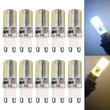 Mais novo 10 pces g9 5 w led 3014 64smd pino base lâmpada led quente branco/branco 110/220 v -- jd9
