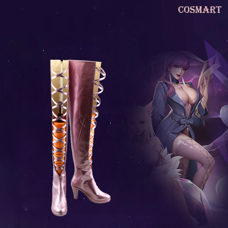[Customize] PU Leather Game LOL K/DA KDA Evelynn Boots cosplay Shoes Any sizes NEW 2018
