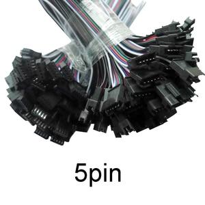 5 paar ~ 100pairs 3pin 4pin 5pin 6pin JST FÜHRTE Anschlüsse, männliche Und Weibliche Stecker für 3528 5050 RGB RGBW RGBWW LED Streifen licht