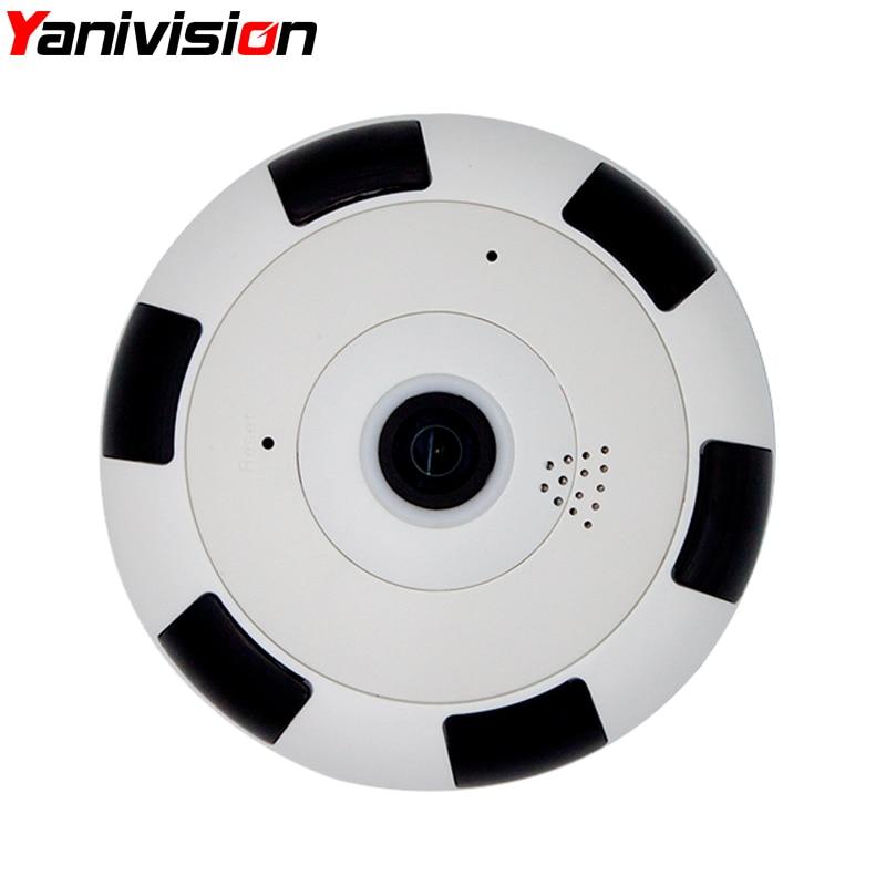 4MP Fisheye VR Panoramique Caméra HD Sans Fil Wifi IP Caméra de Surveillance de Sécurité À Domicile Système Wi-fi 360 degrés Webcam 3MP 2MP