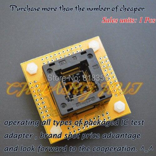 IC TEST TQFP80 QFP80 LQFP80 ic test socket OTQ-80-0.5-05 socket(With PCB board) Pitch=0.5mm Size=14x14mm
