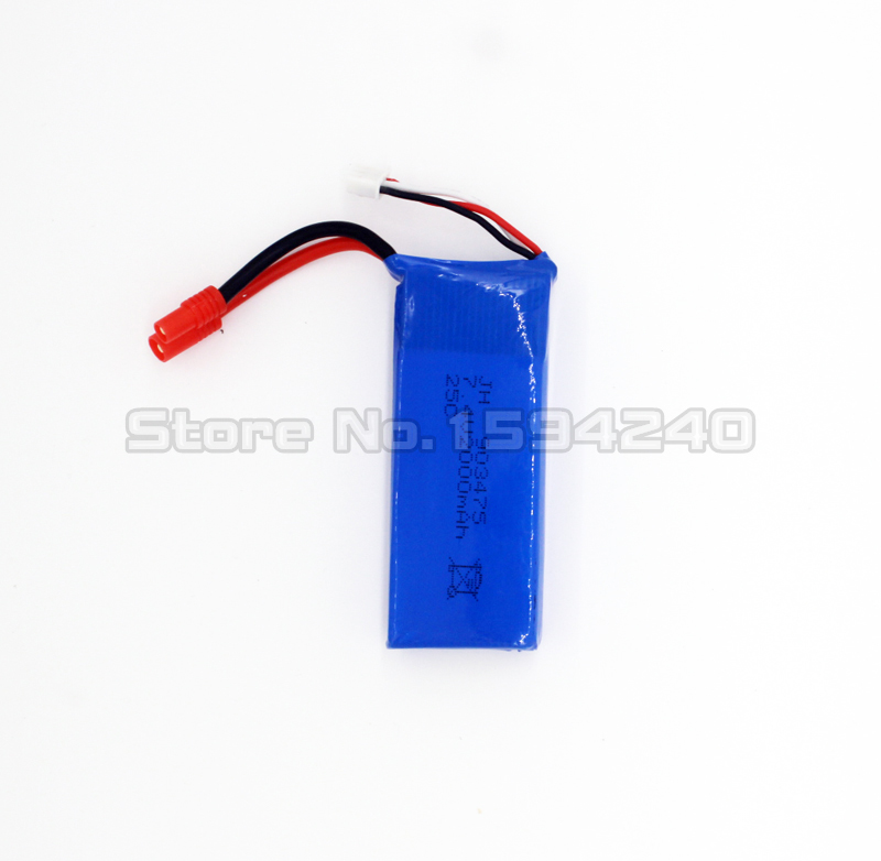 2pcs 7.4V 2000mAh Lipo Battery For for syma X8C X8W X8G RC Quadcopter Copter Drone